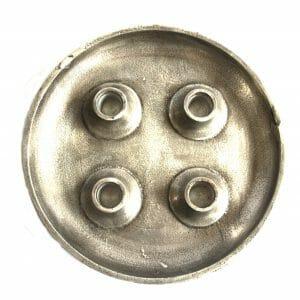 Vintage-Design 23 cm groß Silber Kerzenhalter