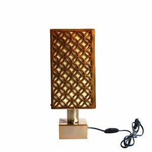 Weiß-Gold Tischlampe (38 cm)