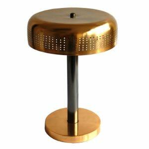 Schwarz-Gold Tischlampe (41 cm)