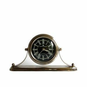 Schwarz-Silber Tischuhr für Dekoration (15 cm)