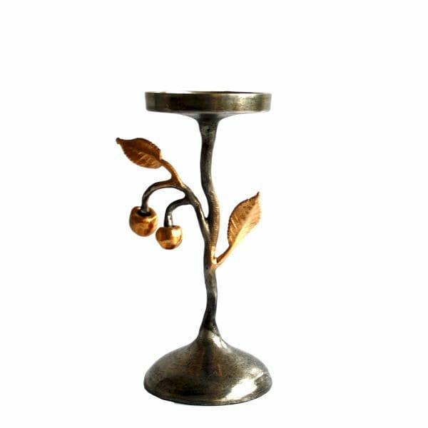 Gold-Silber Kerzenhalter (28,5 cm)
