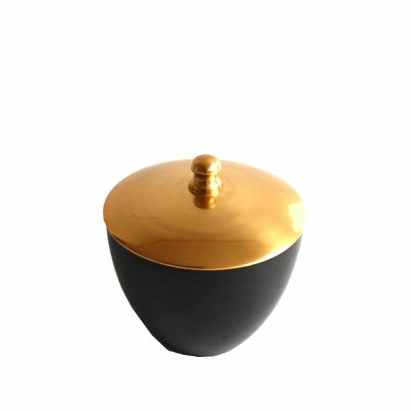 Gold-Schwarz Deko-Topf (18 cm)