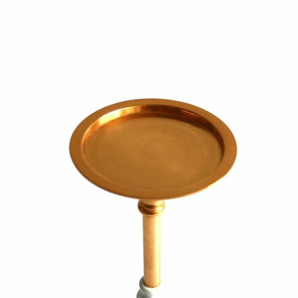Gold-Weiß Kerzenhalter (30 cm)