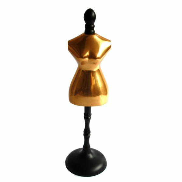 Gold-Schwarz Torso Statue für Dekoration (48 cm)