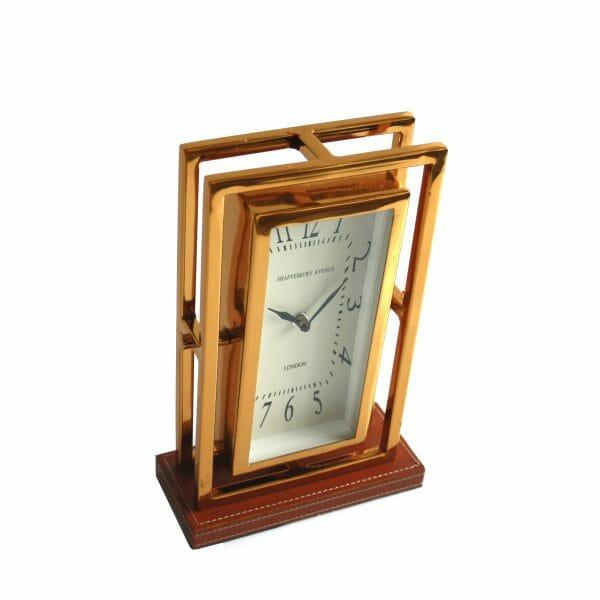 Schwarz-Gold-Braun Tischuhr für Dekoration (27 cm)