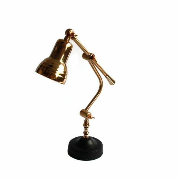 Schwarz-Gold Tischlampe (49 cm)