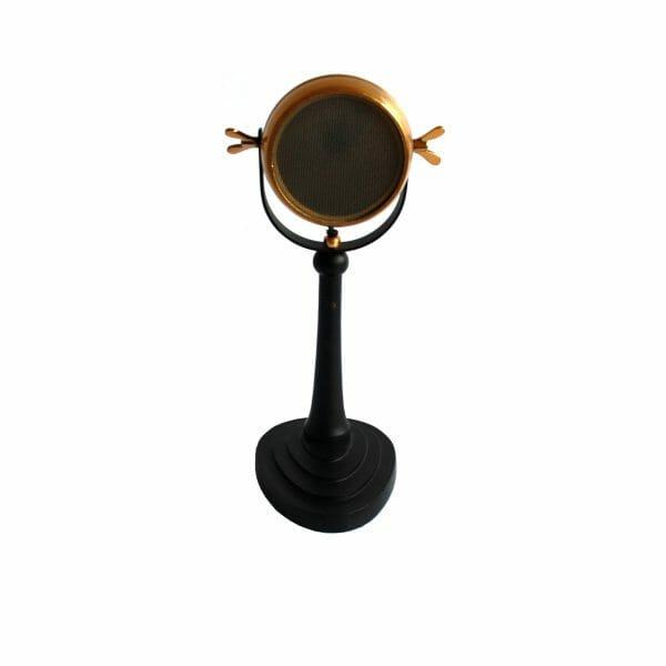 Schwarz-Gold Tischlampe (40 cm)