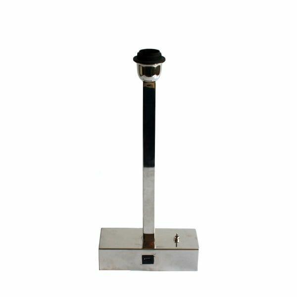 Silber Tischlampe mit USB-Anschluss (45 cm)