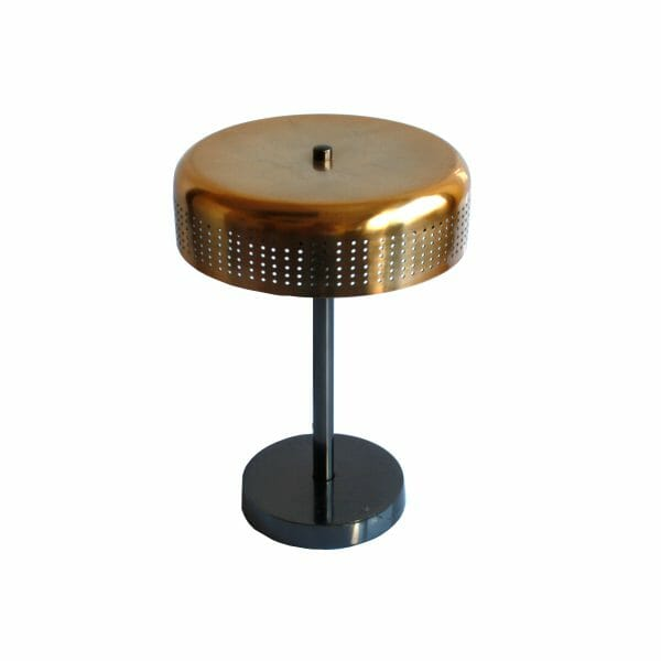Schwarz-Gold Tischlampe (34 cm)