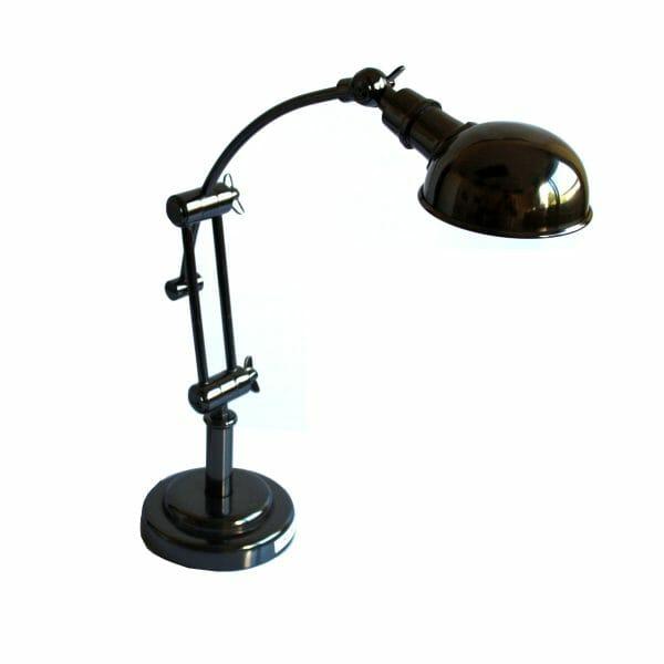Schwarze Tischlampe (Größe: 48 cm)