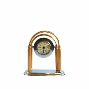 Gold-Silber Tischuhr für Dekoration (25 cm)