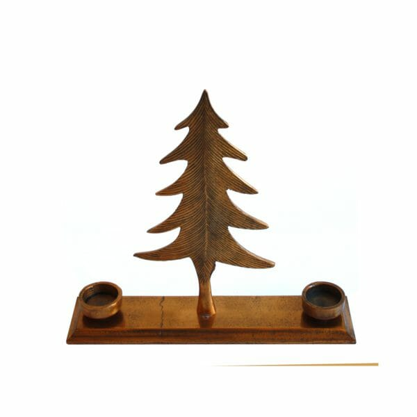 Tannenbaum Kerzenhalter Gold (32 cm)
