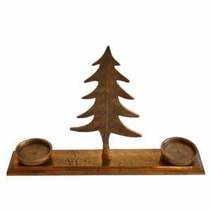Tannenbaum Kerzenhalter Gold (33 cm)