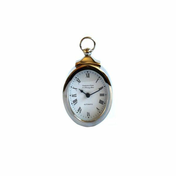 Silber Uhr für Dekoration (21 cm)
