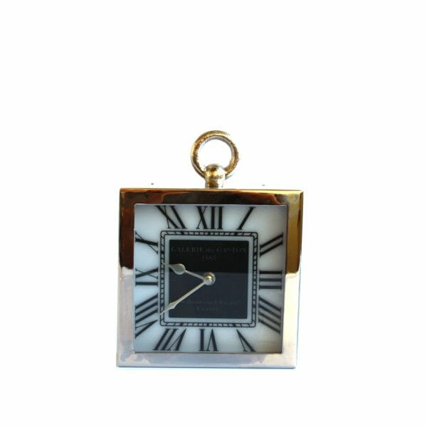 Silber Uhr für Dekoration (25 cm)
