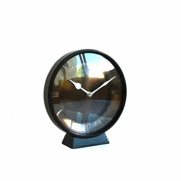 Schwarze Uhr für Dekoration (23 cm)