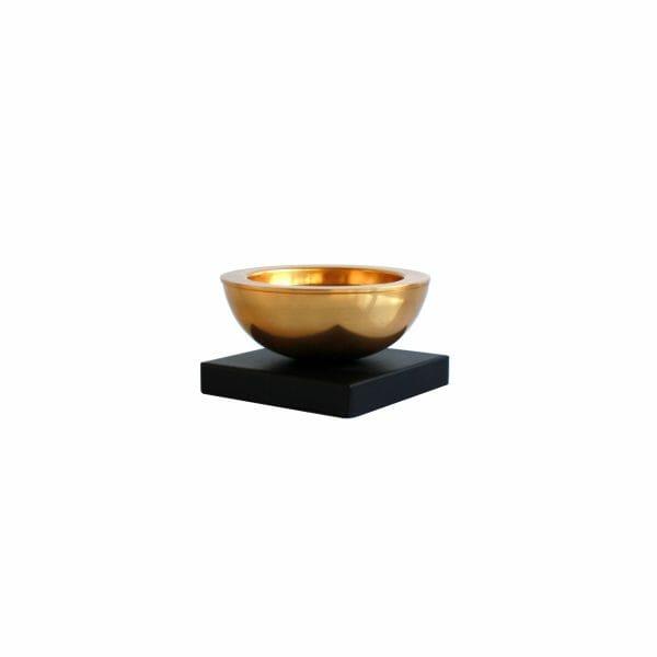 Kleiner Kerzenhalter Gold (Größe: 15 cm)