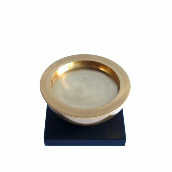 Großer Kerzenhalter Gold (18,5 cm)