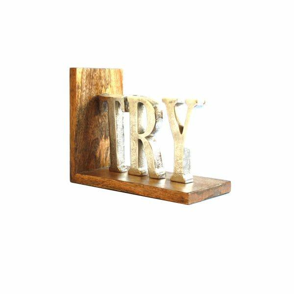 """Silber """"TRY"""" Buchstaben"""