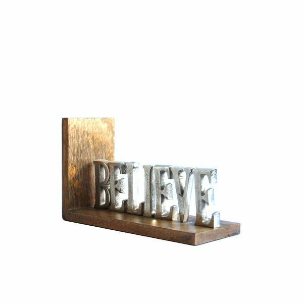 """Silber """"BELIEVE"""" Buchstaben"""