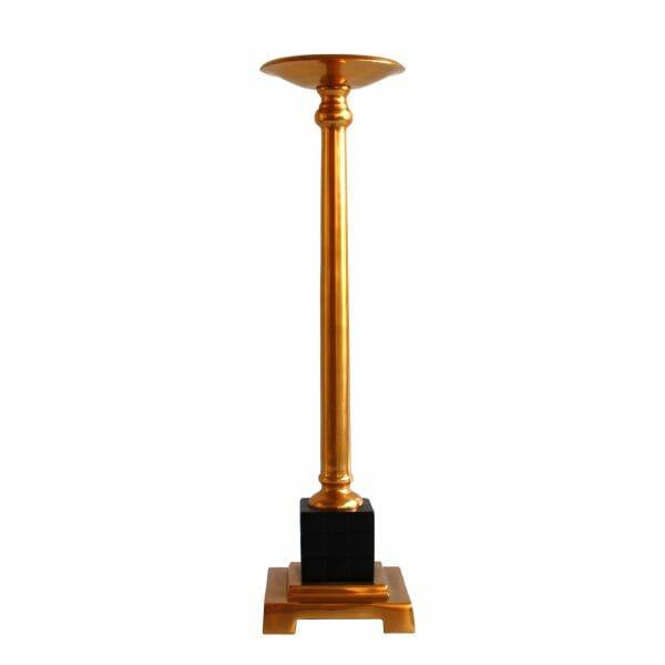 Kerzenhalter Gold (Größe: 50 cm)