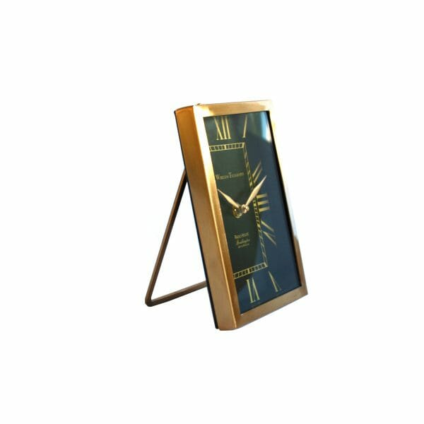 Tischuhr Schwarz-Gold für Dekoration (18 cm)