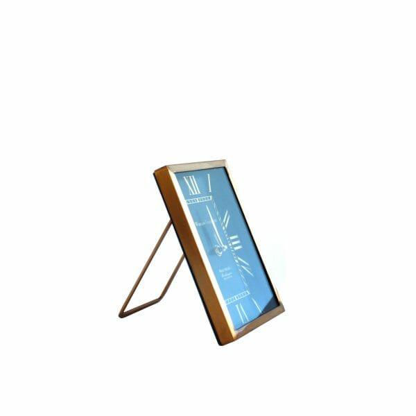Tischuhr Schwarz-Gold für Dekoration (21 cm)