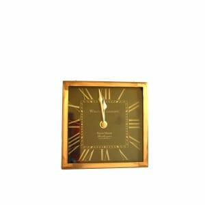 Tischuhr Schwarz-Gold für Dekoration (16 cm)