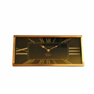 Tischuhr Schwarz-Gold für Dekoration (36 cm)