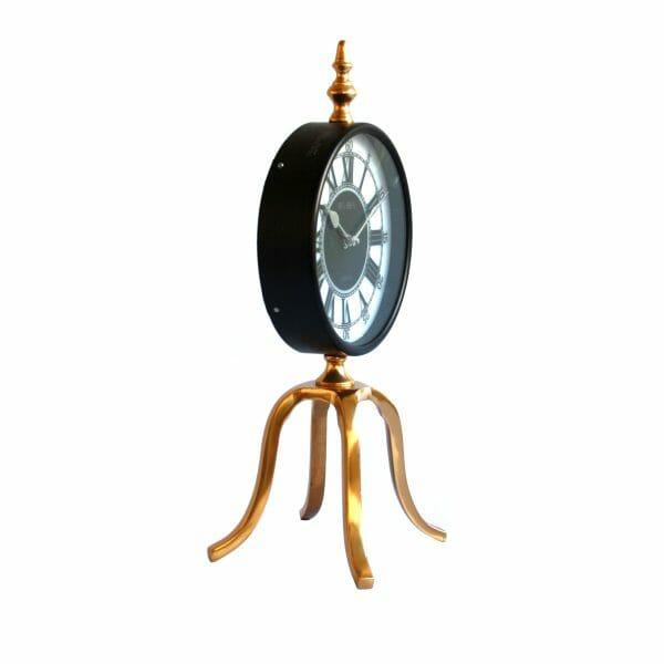 Big Ben Tischuhr Schwarz-Gold für Dekoration (46 cm)