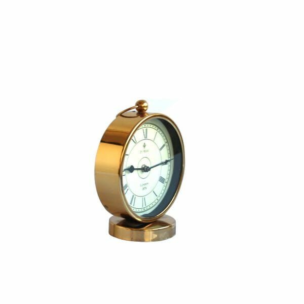 Tischuhr Gold für Dekoration (17 cm)