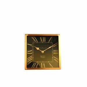 Tischuhr Schwarz-Gold für Dekoration (21x21 cm)