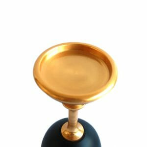 Gold-Schwarz Kerzenhalter (25 cm)