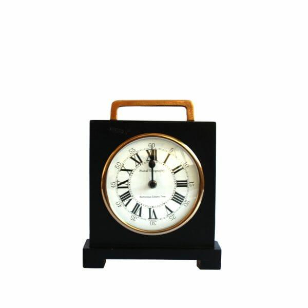 Schwarz-Gold Tischuhr für Dekoration (27 cm)