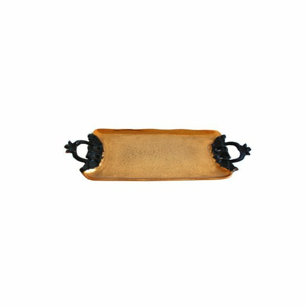 Gold Schale für Dekoration (Größe: 47 cm)