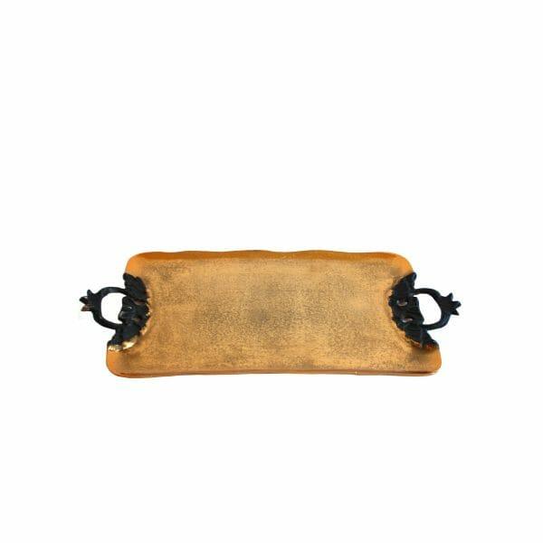 Gold Schale für Dekoration (Größe: 54 cm)