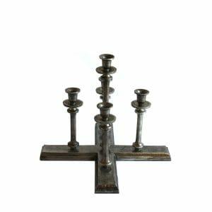 Kerzenhalter 5-armig Silber (34 cm)