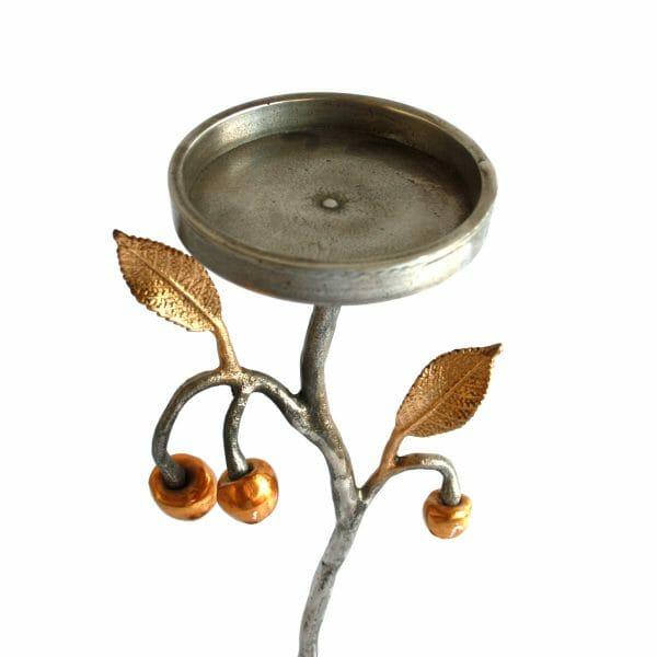 Gold-Silber Kerzenhalter (38 cm)