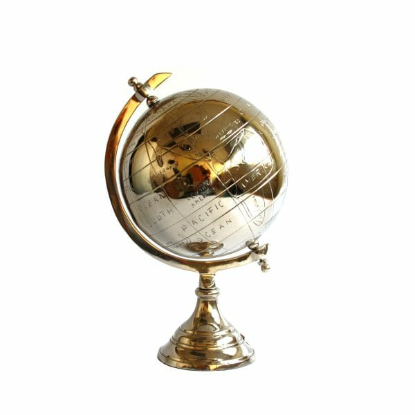 Deko-Globus Silber (Größe: 35 cm)