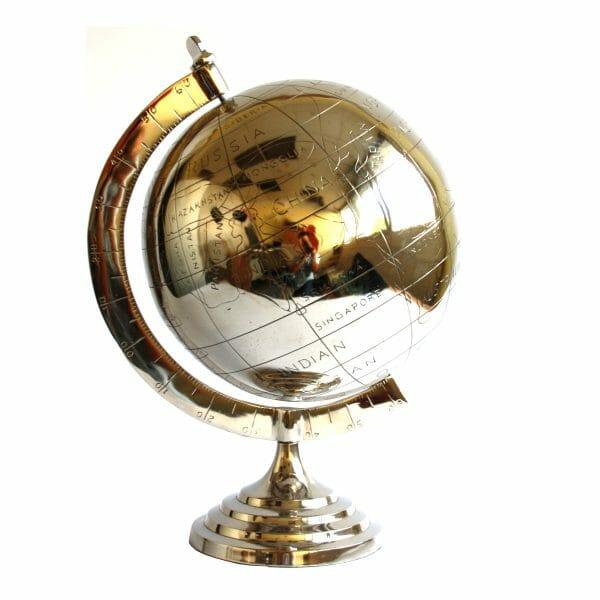 Deko-Globus Silber (Größe: 51 cm)