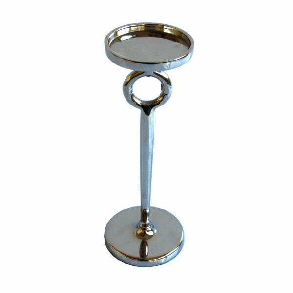 Kerzenhalter Silber (Größe: 27 cm)