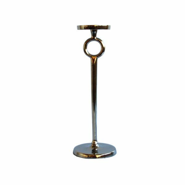 Kerzenhalter Silber (Größe: 35 cm)