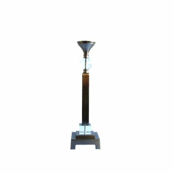 Kerzenhalter Silber + Glas (Größe: 56 cm)