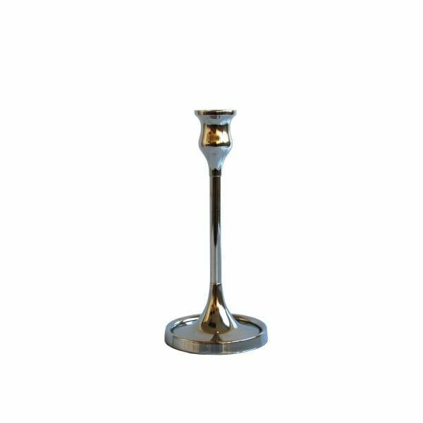 Kerzenhalter Silber (Größe: 25 cm)