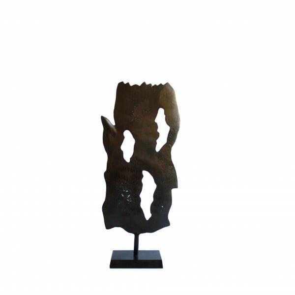 Deko-Blatt Statue Schwarz (Größe: 59 cm)