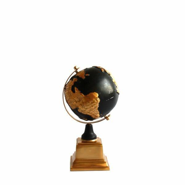 Deko-Globus Schwarz-Gold (Größe: 24 cm)