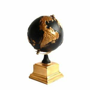 Deko-Globus Schwarz-Gold (Größe: 26 cm)