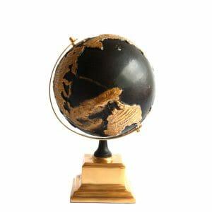 Deko-Globus Schwarz-Gold (Größe: 33 cm)