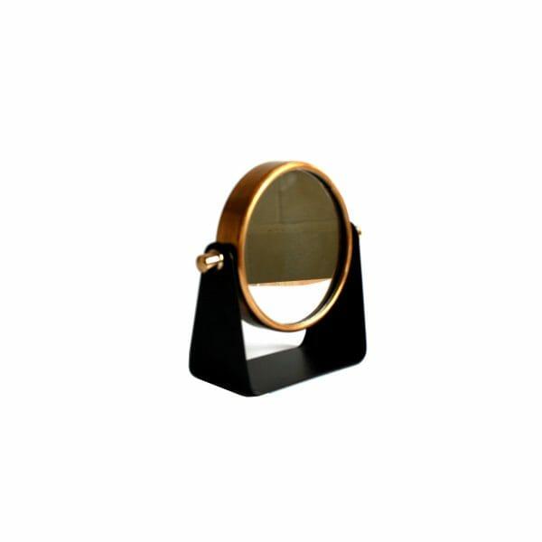 Kosmetikspiegel Schwarz-Gold (Größe: 20 cm)