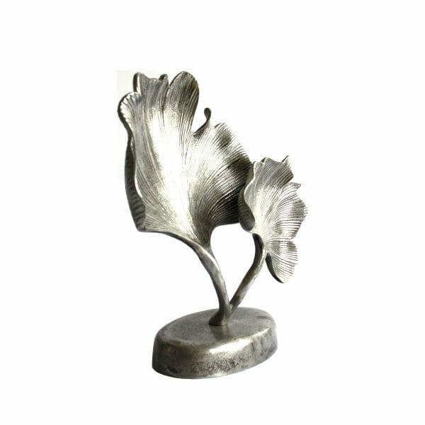 """Silber Statue """"Blätter"""" für Dekoration (Größe: 34 cm)"""